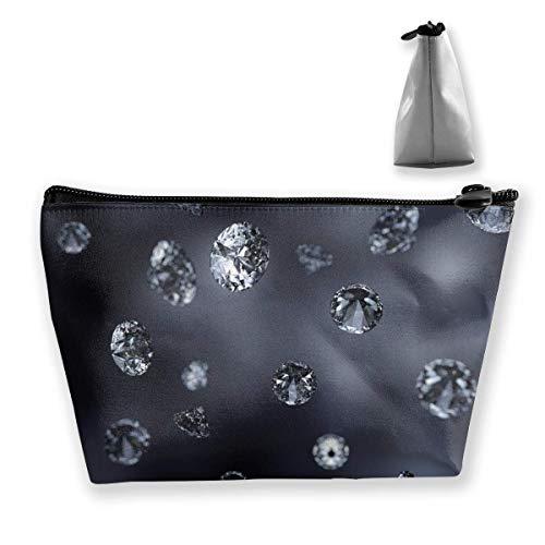 Black Diamond Bling Bling Bling Damen Make-up-Tasche, multifunktional, Kulturbeutel, tragbar, mit...