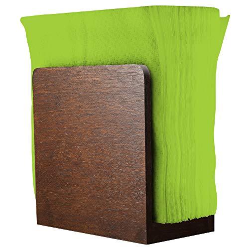 Rustikaler Serviettenhalter - Design Serviettenhalter aus Holz für Tische - Küchenserviettenspender - Küchenzubehör - Restaurantdekor - Barzubehör und Dekor