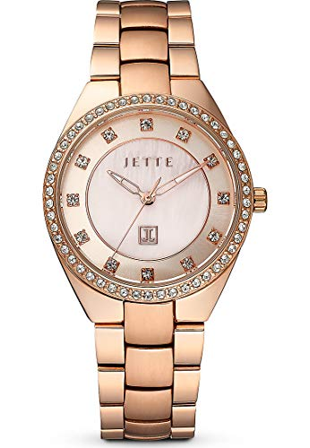 JETTE Time Damen-Uhren Analog Quarz One Size Rosé Edelstahl 32012269