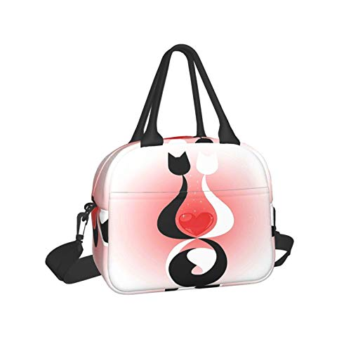 Fashion Theme Pattern Lunch Bag Insulated Lunch Box Organizer Cooler Bags For School Work/Girls Boys Kids Studen Adult Zip Closure Travel Lunch Tote Pocket