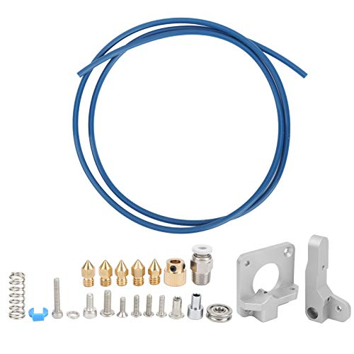 Extruder Set Gray + Blue PTFE Tube + Nozzle Upgrade Kit for Ender‑3 3D Printer Accessories