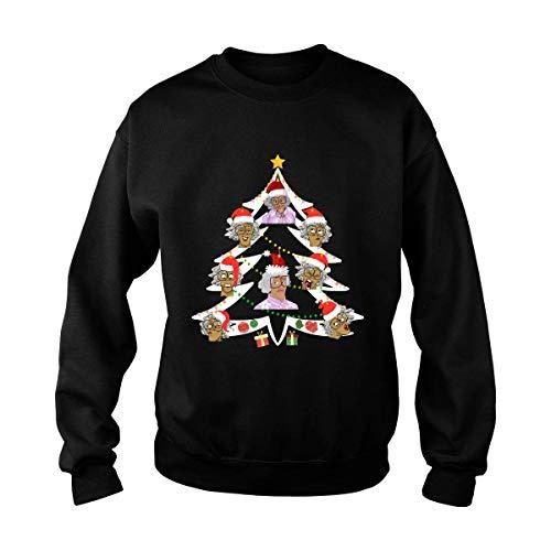 Madea Hellur Hallelujer Praise Da Lort Merry Christmurr Tree Tshirt Unisex T-Shirt (Black-L)