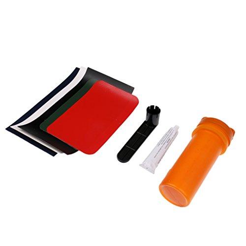 Gazechimp 8pcs Bateau Gonflable Kayak Kit de Réparation PVC Patch Colle Clé à Valve