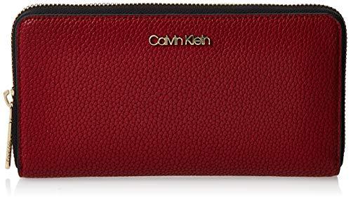 Calvin Klein Neat F19 Lrg Ziparound - Borse a tracolla Donna, Rosso (Barn Red), 1x1x1 cm (W x H L)