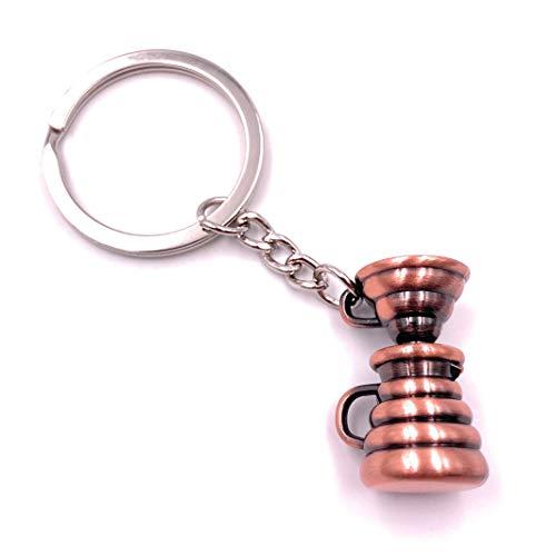 """Onwomania - \""""-Filterkaffee Kaffeemaschine Kaffee Schlüsselanhänger - Metall Glücksbringer z.B. für den besten Freund, die Beste Freundin, Mama - Für Männer, Frauen & Kinder"""