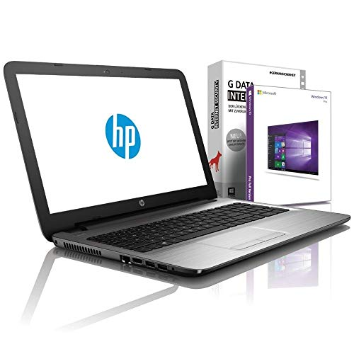 HP 250 G7 (15,6 Zoll Full-HD) Notebook (Intel Core i3-7020U, 8GB DDR4, 256 GB SSD M2, DVD±R/RW, Intel HD Grafik mit HDMI, Bluetooth, WLAN, USB 3.0, Windows 10 Prof, MS Office 2010) Schwarz, #6120
