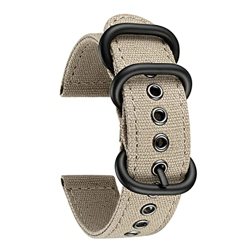 BINLUN Correa de Reloj de Tela Lona Compatibles con Amazfit Bip/GTS/GTR 42mm 47mm/Amazfit Pace/Stratos Smartwatch - 3 Colores Correas de Reloj 20mm 22mm Pulseras de Repuesto para Amazfit