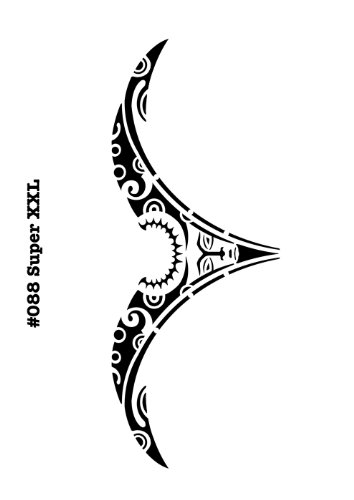 UNLIMITED STENCILS Super XXL Body Painting/Tattoo Schablone/Stencil Steissbeintattoo Arschgeweih Tribal 88 M