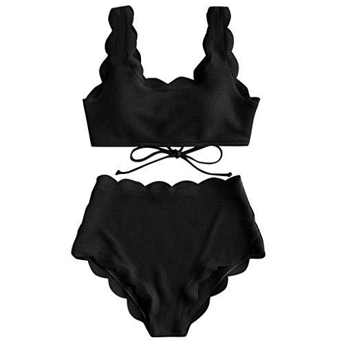 Swimsuit Two Piece PushupBikini Damen Set Push Up Badeanzug Off Shoulder Bademode Frauen High Waist Swimwear Tankini Sexy Beachwear