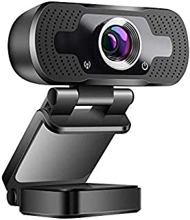 Webcam USB 1080P Full HD PC Camera with Mic for Video Calling/Video Conference/Online Teaching Learning/Busins Meeting, Co...