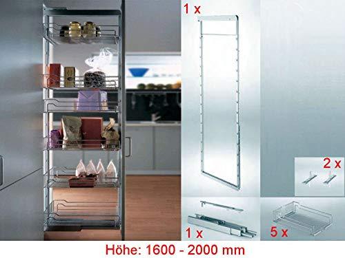 SO-TECH® Dispensa-x Komplettset APOTHEKERAUSZUG Höhe 1600-2000 mm/Breite 300 mm/VVS 100Kg mit SoftstoppPlus und Clickfixx