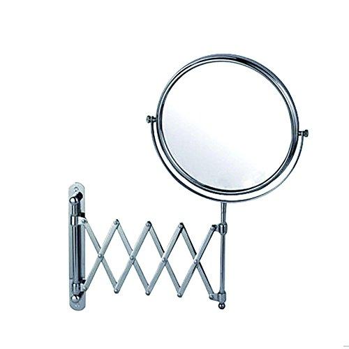 DADAO Doppelseitige Badezimmerspiegel Bad Rasierspiegel Teleskop-Kupfer-Spiegel Schräge Wand-Spiegel