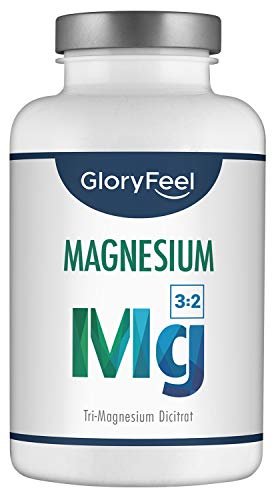 Premium Magnesium Citrate Supplement - 2400mg Magnesium Di-Citrate of which 360mg are pure Magnesium per daily dose - 200 VEGAN high-dose Magnesium Capsules - Laboratory Tested Manufactured in Germany