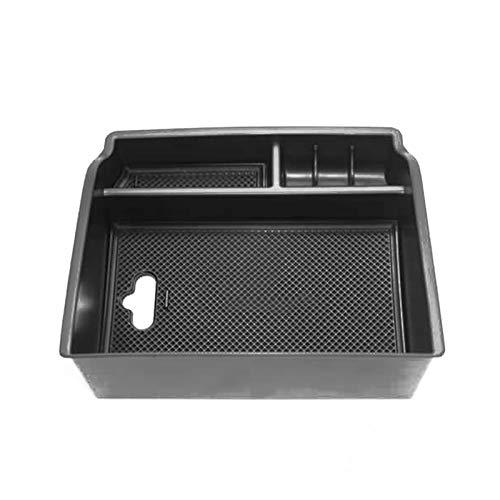 ZHIXIANG ABS + Gummi-Auto-Aufbewahrungsbehälter Schwarz Zubehör Armlehne Container Stauen Box Antirutschmatte Fit for Toyota Hilux Revo 2015-2017