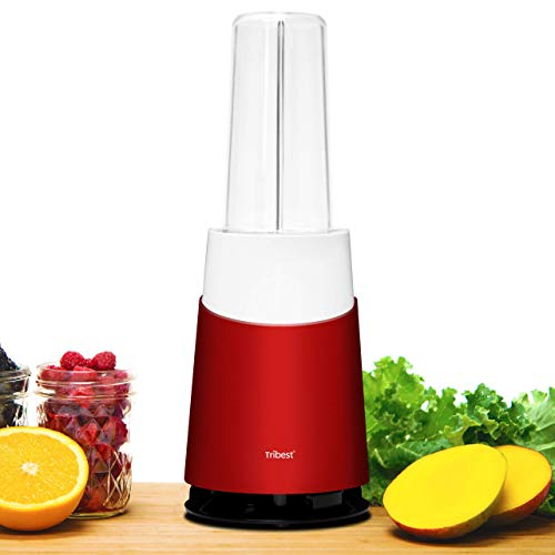 Tribest Mason Jar Ready Personal 2 Family Pack Blender, Red