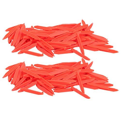 Tomanbery Flotadores de Pesca de Goma livianos, Flotador de Peces Reutilizable, Flotador de Peces de Cola Plana, flotadores de Pesca duraderos, Accesorio de Pesca(Medium Red)