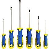 S&R Set Cacciaviti/Giraviti Magnetici Professionali. (3 a Croce + 3 a Taglio)
