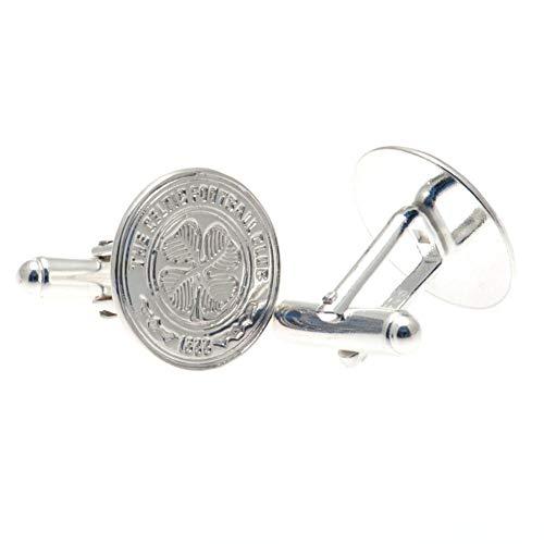 Celtic FC Sterling Silver Cufflinks (One Size) (Silver)