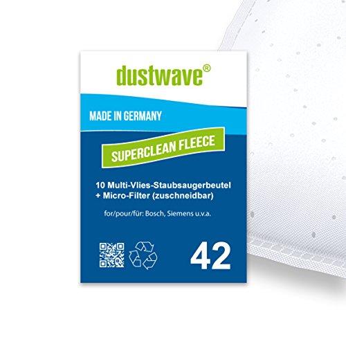 Sparpack - 10 Staubfilterbeutel geeignet für Bosch - BSG 1400 Arriva Staubsauger - dustwave® Markenstaubbeutel/Made in Germany + inkl. Microfilter