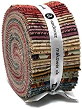 17 2.5 Bright Mixers Floral Jelly Roll WOF