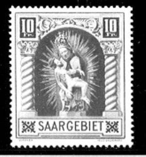 Goldhahn SAAR Nr. 103 II postfrischPlattenfehler - Briefmarken für Sammler