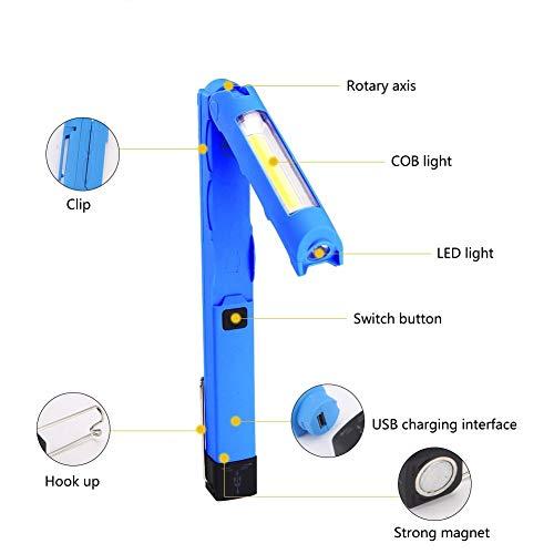 Lampe poche puissante LED COB 180 degrés rotation travail léger lanterne camping portable lumières de la torche suspendue crochet lampe tente extérieur ménage multifonctionnel lanterne d'inspection