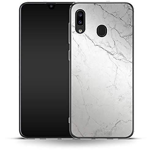 Carcasa de Silicona para Smartphone Samsung Galaxy A20, Color Blanco