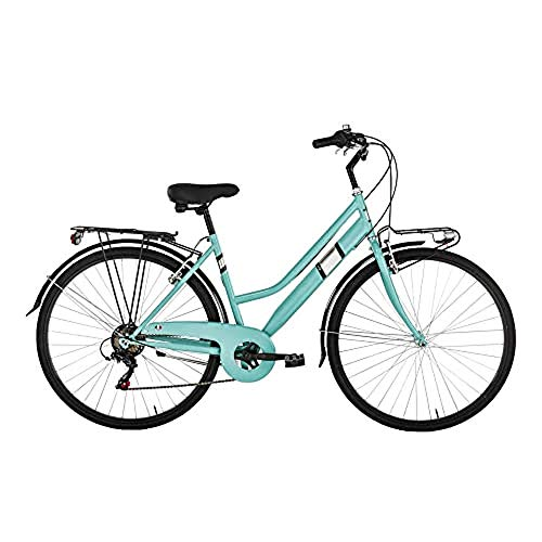 "Alpina Bike Moving TRK, Bicicletta Trekking 6v Donna, Acquamarina, 28"""