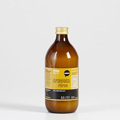 Wohltuer Graviola Püree 500 ml | 100% Graviola (Stachelannone) Direktsaft | Unfiltrierter & Naturbelassener Graviola Saft | Vegan