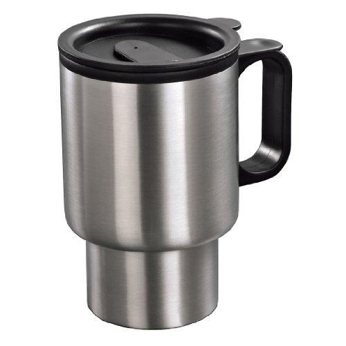 Xavax Isolierbecher (Coffee-to-go, Heiß-/Kalt-Getränke, 350 ml, Auto) silber