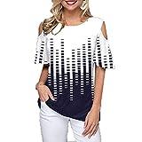 Camiseta Casual De Verano De Talla Grande para Mujer con Cuello Redondo Y Manga Corta Estampada