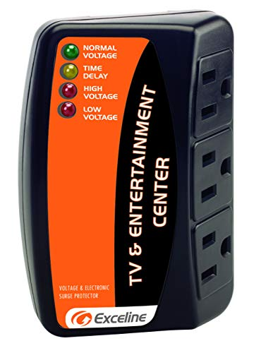 3-Outlet Electronic Surge Protector for Tv's, Audio Equipment, Video Games, Computers, Printers