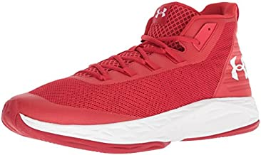 Under Armour Men's Jet Mid Basketball Shoe, Red (600)/White, 10