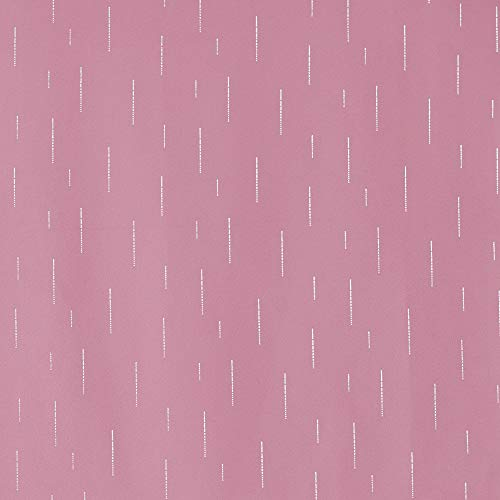 cortinas rosas con trabillas