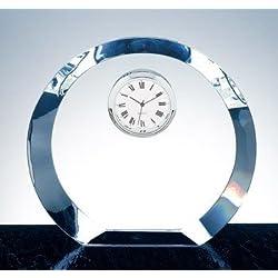 Circle Clock Optical Crystal Trophy