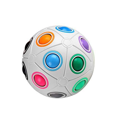 digitCUBE Magic Ball XL - Fidget Regenbogen Puzzle Ball für Konzentration und Geschick