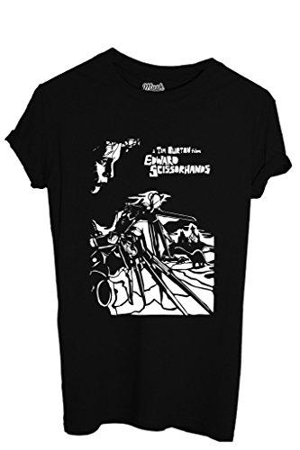 MUSH T-Shirt A Tim Burton Film Edward Mit Den Scherenhänden - Film by Dress Your Style - Jungen-XL Schwarz