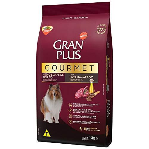 Ração GranPlus Gourmet para Cães Adultos de Médio e Grande Porte Sabor Ovelha 15kg