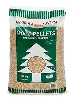 JSM-Brennholz - Holzpellets AGRICOLA Premium Qualität - Sackware (2 x 15 kg) EN Plus A1