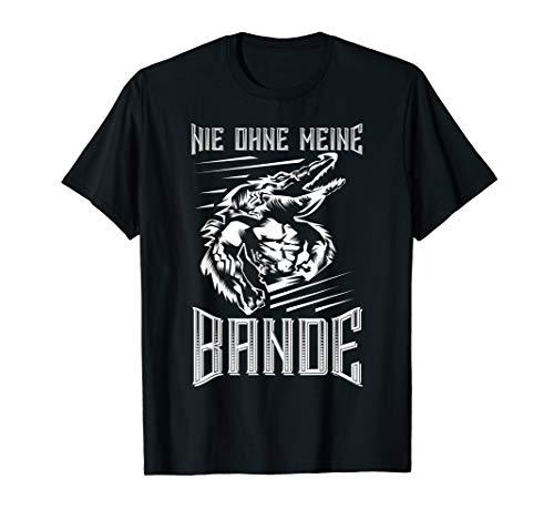 Nie ohne meine Bande T-Shirt Straßenbande Krokodil Team rap