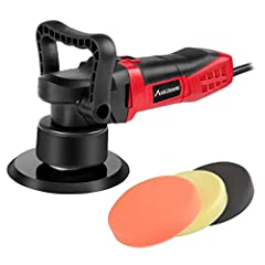 Meet Your Needs - With powerful motor, this random orbital polisher is perfect for polishing and removing swirls, scratches, and defects from all painted vehicles, reappearing the shine of your car. You can also use it to sand wood or metal. Variable...