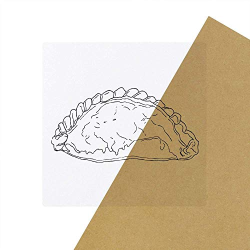 6 x \'Cornish Pasty\' Transparente Aufkleber / Stickers (SK00025649)