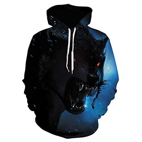 Loup Imprimé Hoodies Hommes 3D Hoodies Sweats Garçons Vestes Qualité Pull Mode Survêtements Animal Streetwear Out Manteau-Picture_Color_Size_S