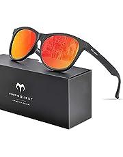 MARSQUEST 偏光サングラス ウェリントン型 UV400紫外線 反射光 強光 グレアカット 落下防止 抗衝撃 自転車 ドライブ ランニング 釣り 登山 トレッキング ファッション メンズ & レディース用