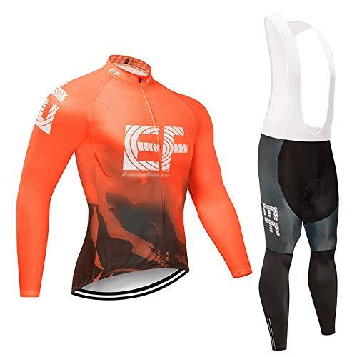 NBAOK Chaqueta de Traje de Ciclismo Mangas largas Ciclismo Bicicleta de Carretera cálida Traje de Ciclismo Transpirable de Secado rápido