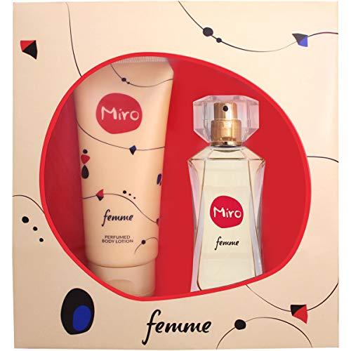 Miro femme/woman Geschenkset (Eau de Parfum,50ml+Duschgel,100ml), 150 ml