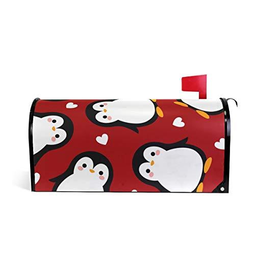 CPYang Cute Animal Cœur Pingouin magnétique pour boîte aux Lettres pour Home Garden Yard Deco Makeover Mail Wrap 25.5 x 20.8 inch Multicolore