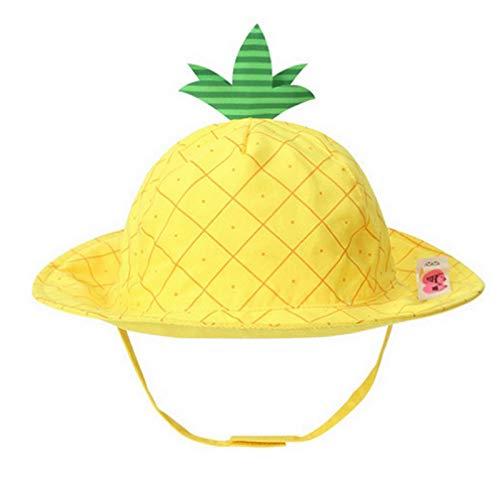 Baby Cartoon Kinderhut Fischerhut Sonnenhut Sommerhut Sonnenschutz UV-Schutz Ananas 6-12 Monate