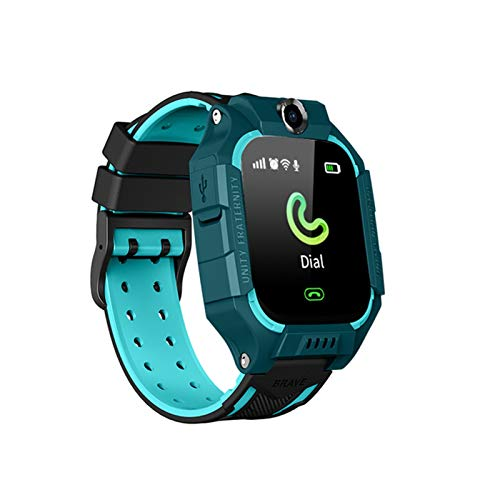 XXY Smart Watch 2g LBS Posición SOS Cámara Teléfono Smart Baby Watch Voice Chat SmartWatch Mobile Watch Vs Q02 Z6 (Color : Green, Size : Spanish Version)