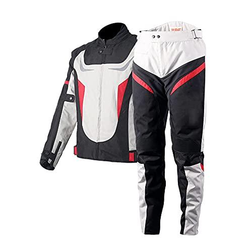 Chaqueta de Moto Cálido Ropa Ligera y Transpirable Equipo Protección Impermeable Abrigo Informal Motorcycle Jackets Exteriores Accesorios para Hombres Mujeres,Red,XL